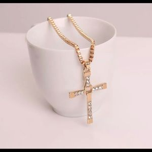 New 18 k gold necklace and cross